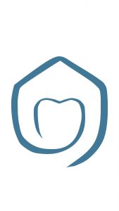smile haus logo looks like house housing teeth dentistry family environment balance of mouth